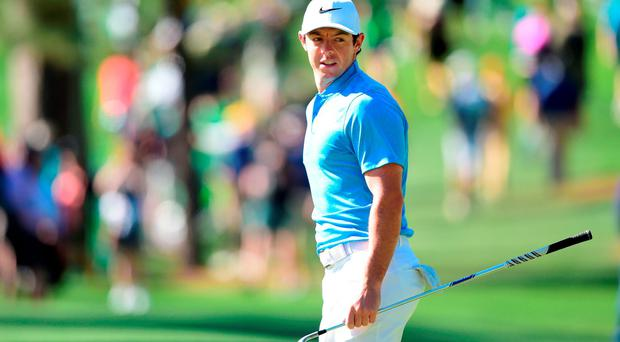 'I feel like I'd set myself apart from the guys that are playing here this week,' said Rory McIlroy at Augusta yesterday at the prospect of becoming just the sixth golfer to complete a career Grand Slam. Photo: Harry How/Getty Images