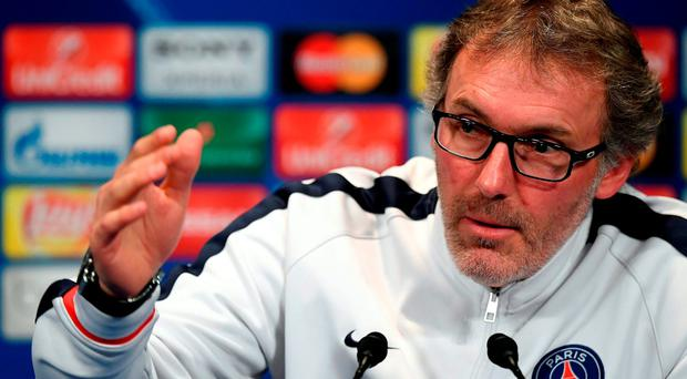 Paris Saint-Germain head coach Laurent Blanc. Photo: FRANCK FIFE/AFP/Getty Images