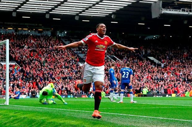 Manchester United star Anthony Martial. Photo: Martin Rickett/PA