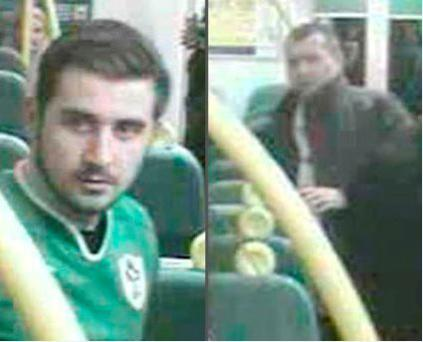 Suspects sought. Photo: British Transport Police