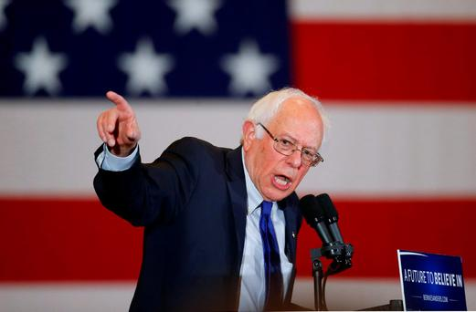 Democratic presidential candidate Senator Bernie Sanders speaks during a campaign event in Milwaukee. Photo: AP