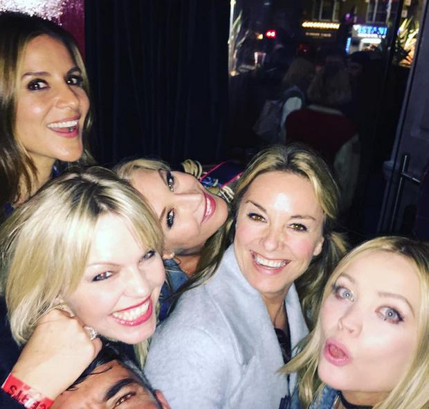 Amanda Byram with her celebrity pals on her hen night