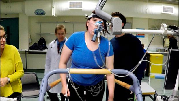 Doctor in the House episode 3 airs tomorrow (Wed 6th April) at 9pm on TV3. Debbie Mason on treadmill.