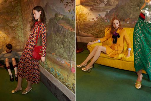 The model on the left of this Gucci ad was deemed