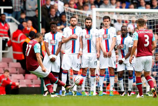 West Ham's Dimitri Payet scores his incredible free-kick