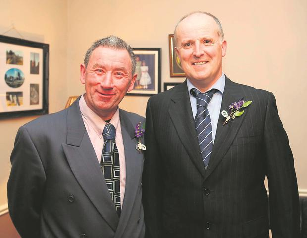 Martin Byrne (left) who received a kidney from his dear friend Seamus