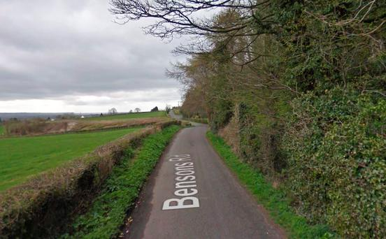 Bensons Road near where the incident occurred Credit: Google Maps