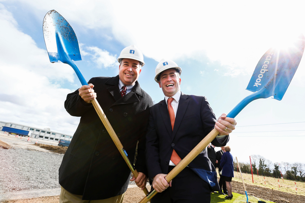 Pictured at the ground-breaking ceremony of Facebook newest data centre atClonee was Tom Furlong, VP of Infrastructure at Facebook with Minister for Skills, Research and Innovation, Damien English T.D.