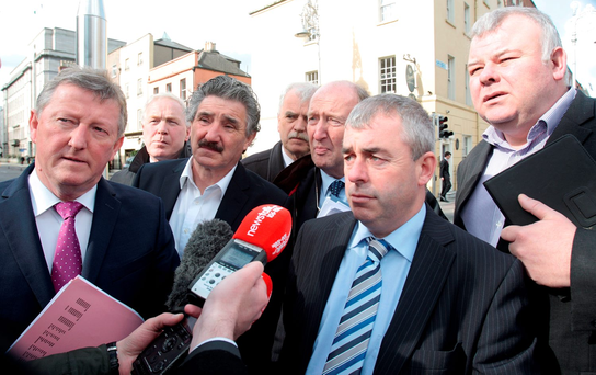 Independent Alliance deputies Sean Canney, John Halligan, Finian McGrath, Shane Ross, Kevin 'Boxer' Moran, and Michael Fitzmaurice Photo: Tom Burke