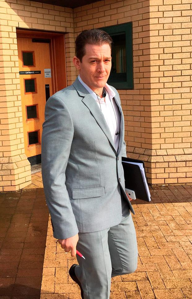 Jeremiah Mathis Thede leaves Antrim Crown Court Credit: David Young/PA Wire