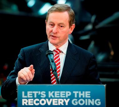 In the second vote for Taoiseach Enda Kenny Kenny only got the votes of Fine Gael TDs and Independent TD Michael Lowry Photo: Leon Nealleon/AFP/Getty Images