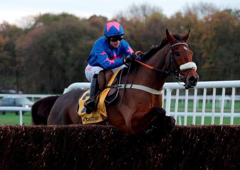 Cue Card and Paddy Brennan bid to make amends for their Cheltenham mishap (Clint Hughes/PA Wire)