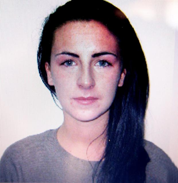 A picture of Michaella McCollum taken by Peru Police . Pic:Mark Condren