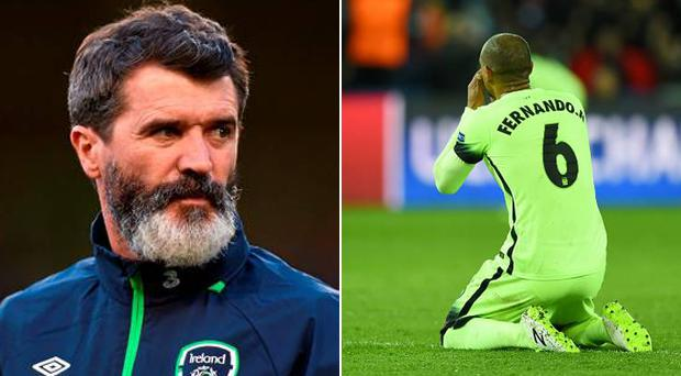 Roy Keane was unimpressed with the shambolic defending during last night's clash
