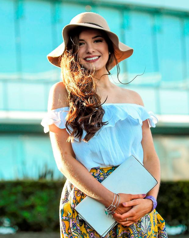 Racergoer Saoirse MacGabhann, from Wicklow. Leopardstown, Co. Dublin. Picture: David Fitzgerald / SPORTSFILE