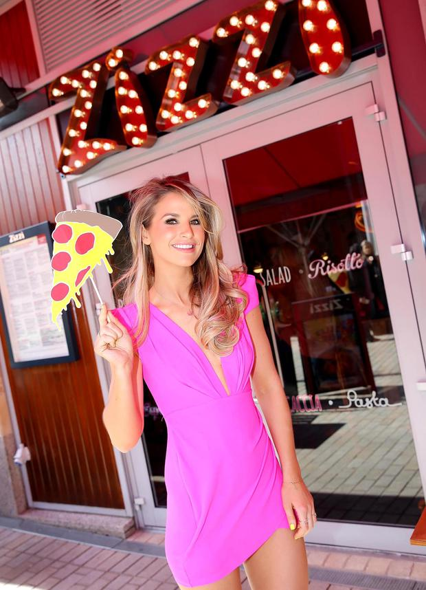 Pictured is Irish DJ and television personality, Vogue Williams officially launching the first Zizzi restaurant in Ireland, located in the Pembroke District of Dundrum Town Centre. For more information visit www.zizzi.co.uk #ZizziDundrum Pic: Marc O'Sullivan