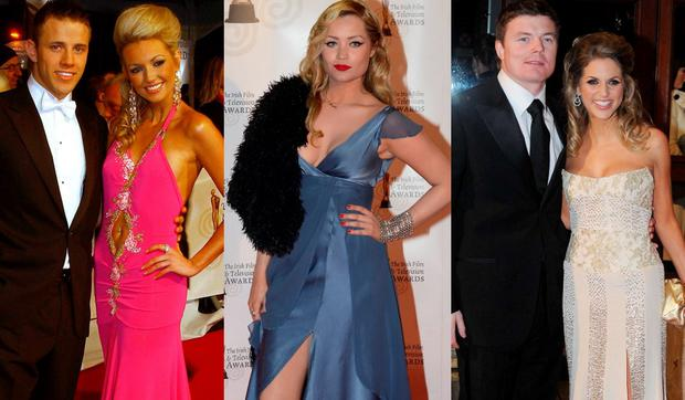 (L to R) Rosanna Davison and Wesley Quirke in 2007; Laura Whitmore in 2011 and Brian O'Driscoll and Amy Huberman in 2010