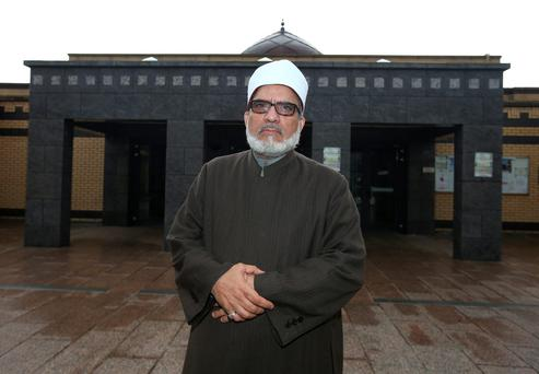 Sheikh Hussein HaIawa, Imam of the Islamic Cultural Centre of Ireland an islamic complex, including a mosque, based in Clonskeagh, Dublin. Credit: Damien Eagers