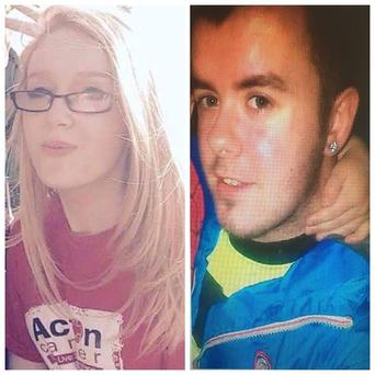 Chelsea McGarry and Daire McIlroy Credit: PSNI
