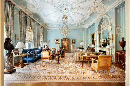 The interior of one of the three Manhattan properties in New York bought by Roman Abramovich and his partner Dasha Zhukova. Efforts to convert them into a luxury home have been rejected.