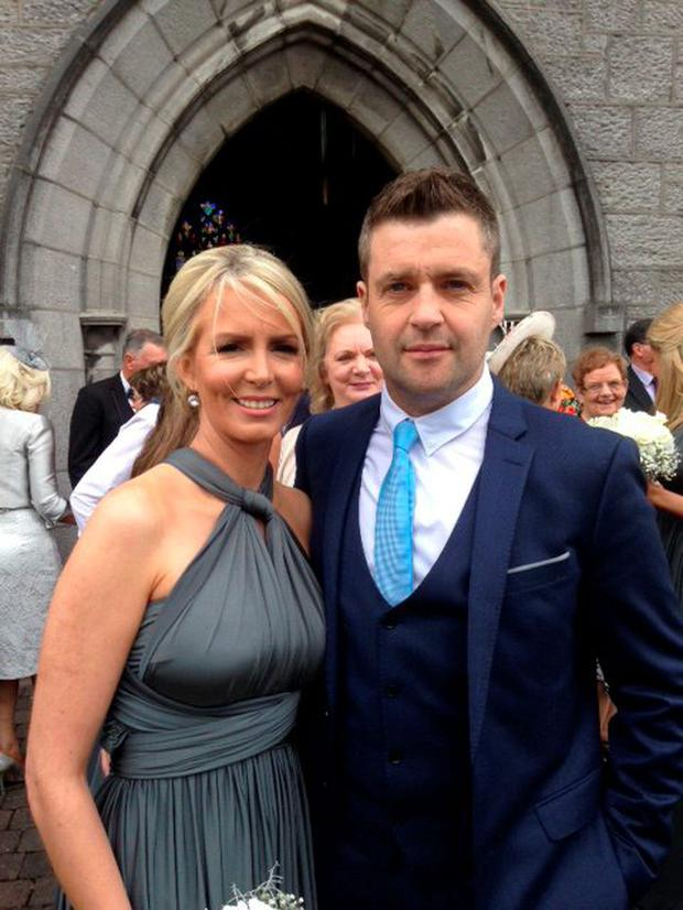 Kidney transplant recipient Phelim O'Neill and his wife Tracey