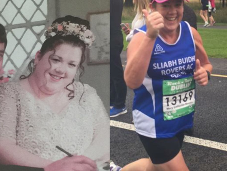 Mary Catherine has lost ten stone since she discovered a passion for running Photo Credit: Facebook 'Mary Catherine's Journey Weightloss to Running My First Marathon'