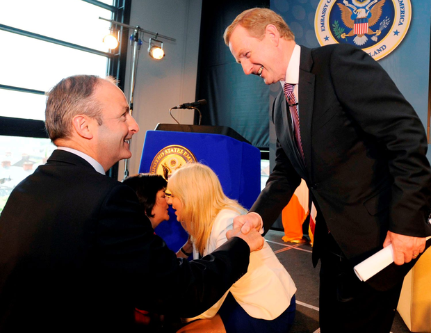 Fianna Fáil leader Micheál Martin and Fine Gael leader Enda Kenny Martin pictured at an annual Embassy conference at Croke Park Photo: RollingNews.ie