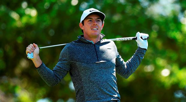 Rory McIlroy is right in contention after a steady round in difficult conditions (Getty Images)