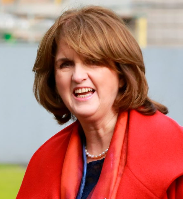 Joan Burton's leadership of the Labour Party would come under scrutiny if an election was called quickly Photo: Frank Mc Grath