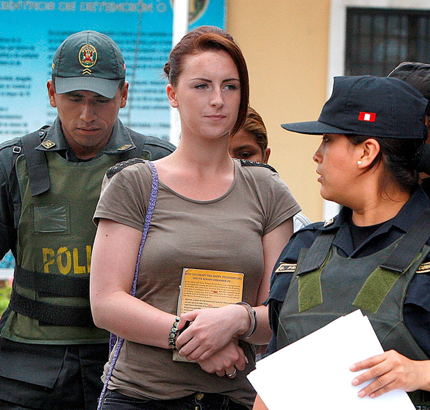 Michaella McCollum arriving for a court hearing in Lima Photo: AP Photo/Karel Navarro