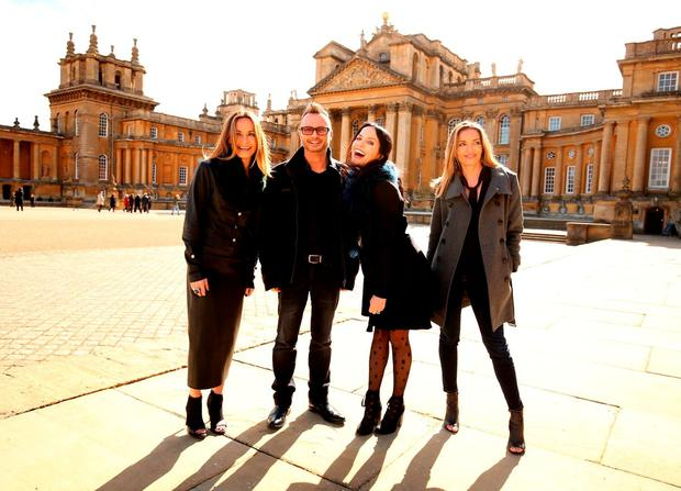 The Corrs Sharon, Jim, Andrea and Caroline at Blenheim Palace in Oxfordshire. Picture Chris Radburn/PA Wire