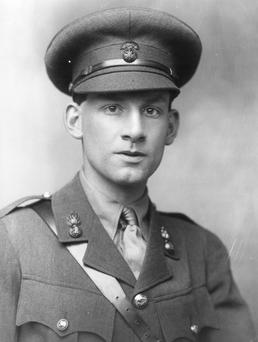 English poet and novelist Siegfried Sassoon (1886 - 1967) in army uniform. Photo by George C Beresford/Getty Images.
