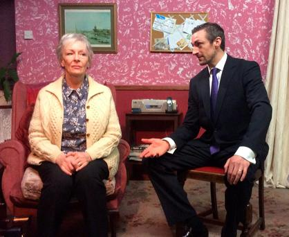 The financial crash takes it toll on mother and son Jenny and Des, played by Geraldine Plunkett and Marcus Lamb.