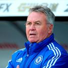Guus Hiddink interim manager of Chelsea looks on prior to the match between Swansea City and Chelsea. Photo: Getty