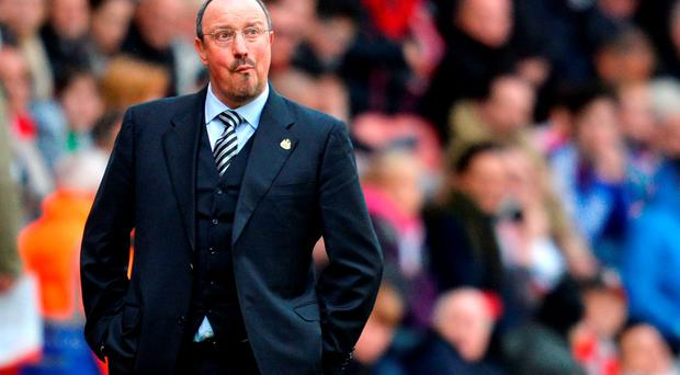 Newcastle United manager Rafa Benitez reacts during the match. Photo: Getty