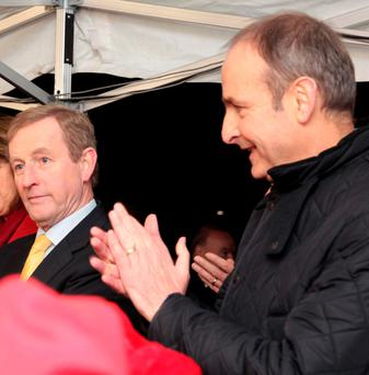 NO DEAL: Fianna Fail leader Micheal Martin, right, rejected Fine Gael leader Enda Kenny's partnership offer. Photo: RollingNews.ie