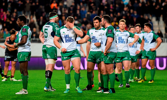 Connacht players following their defeat. Photo: Sportsfile