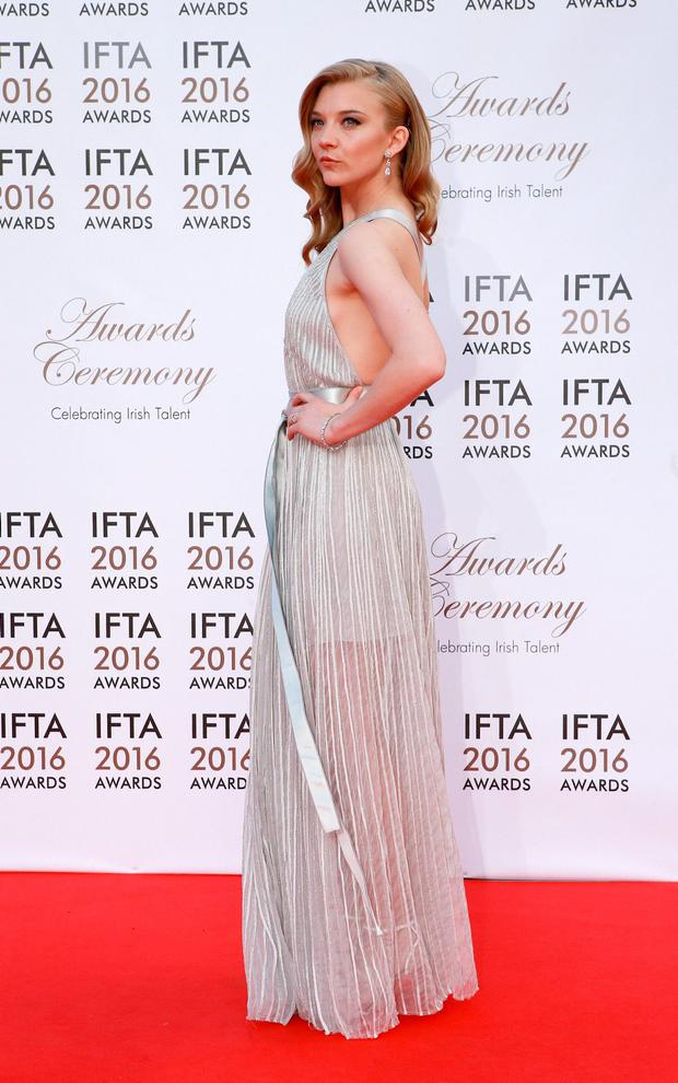 Natalie Dormer pictured on the Red Carpet before the IFTA awards. Photo: Frank Mc Grath