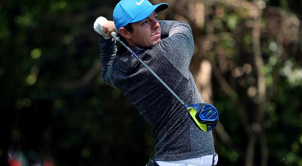 AUGUSTA, GEORGIA - APRIL 09: Rory McIlroy of Northern Ireland plays his shot from the second tee during the third round of the 2016 Masters Tournament at Augusta National Golf Club on April 9, 2016 in Augusta, Georgia. (Photo by Andrew Redington/Getty Images)