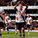 "Football Soccer - Tottenham Hotspur v Manchester United - Barclays Premier League - White Hart Lane - 10/4/16 Toby Alderweireld celebrates after scoring the second goal for Tottenham Action Images via Reuters / John Sibley Livepic EDITORIAL USE ONLY. No use with unauthorized audio, video, data, fixture lists, club/league logos or ""live"" services. Online in-match use limited to 45 images, no video emulation. No use in betting, games or single club/league/player publications. Please contact your account representative for further details."