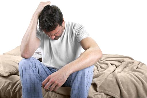 Most studies have found a prevalence of depression among men in general to be around 7-8pc. Picture posed