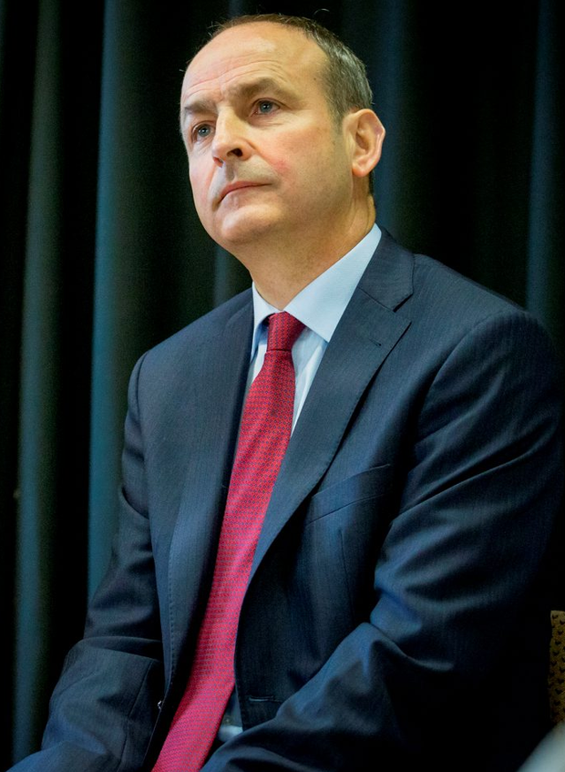 'Having rejected acting Taoiseach Enda Kenny's partnership government proposal, Fianna Fáil leader Micheál Martin last night repeated his insistence that Fine Gael must be prepared to support a minority government led by his party if he gets more support from Independent TDs' Photo: Dylan Vaughan