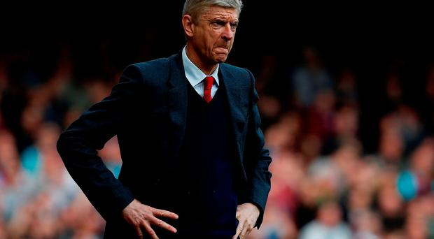 Wenger: Unhappy with defence. Photo: Getty