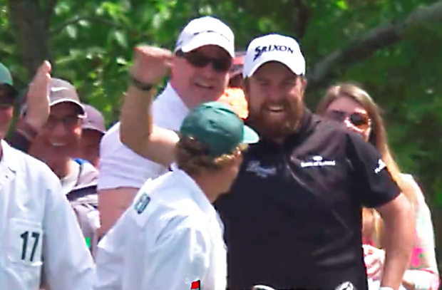 Shane Lowry is elated after hitting a hole-in-one at The Masters