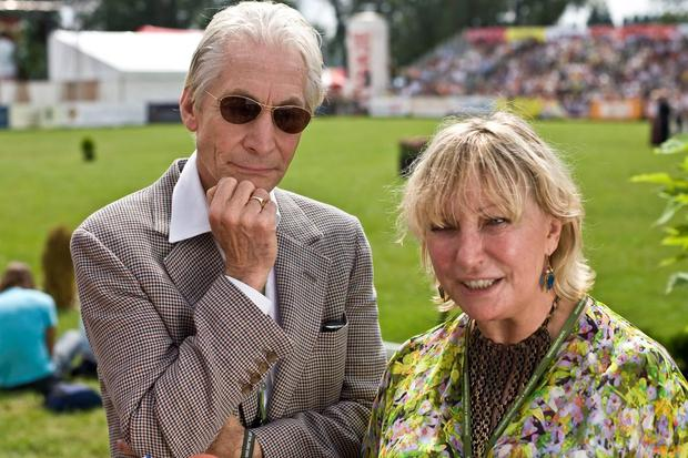 Charlie Watts and his wife Shirley