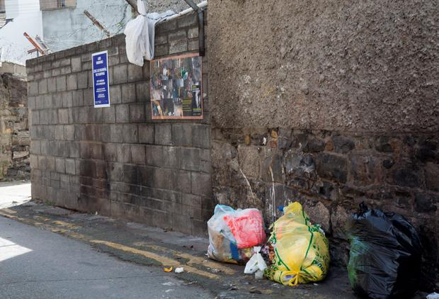 Frankfort Cottages lane way just off Killarney Street where people are illegally dumping