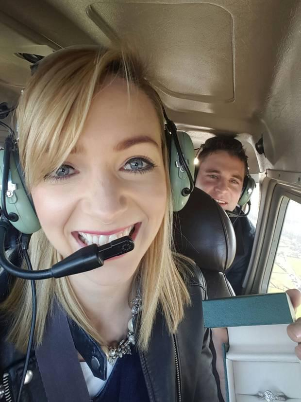 The couple in the aircraft