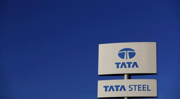A company logo outside the Tata steelworks near Rotherham in Britain. REUTERS/Phil Noble/Files