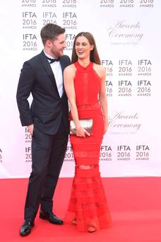 Madeline Mulqueen wears a dress from Starla at the 2016 IFTAs