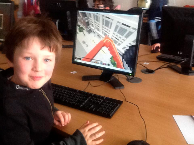 Harry Kelly, aged 8, enjoying Mindrising.ie's free workshops at DIT Aungier Street